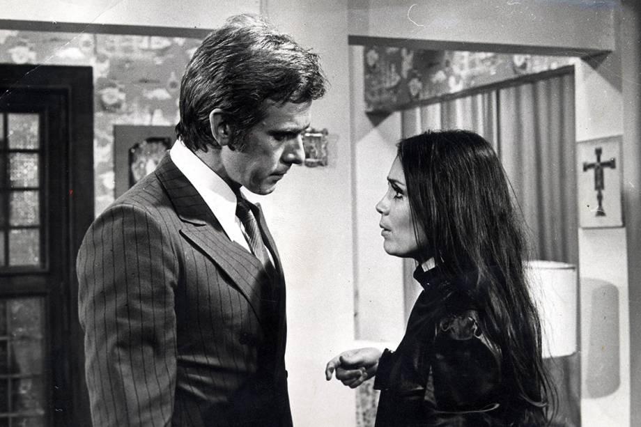 """Francisco Cuoco e Regina Duarte na novela """"Selva de Pedra"""""""