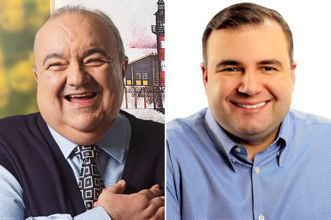 Rafael Greca (PMN) e Ney Leprevost (PSD)