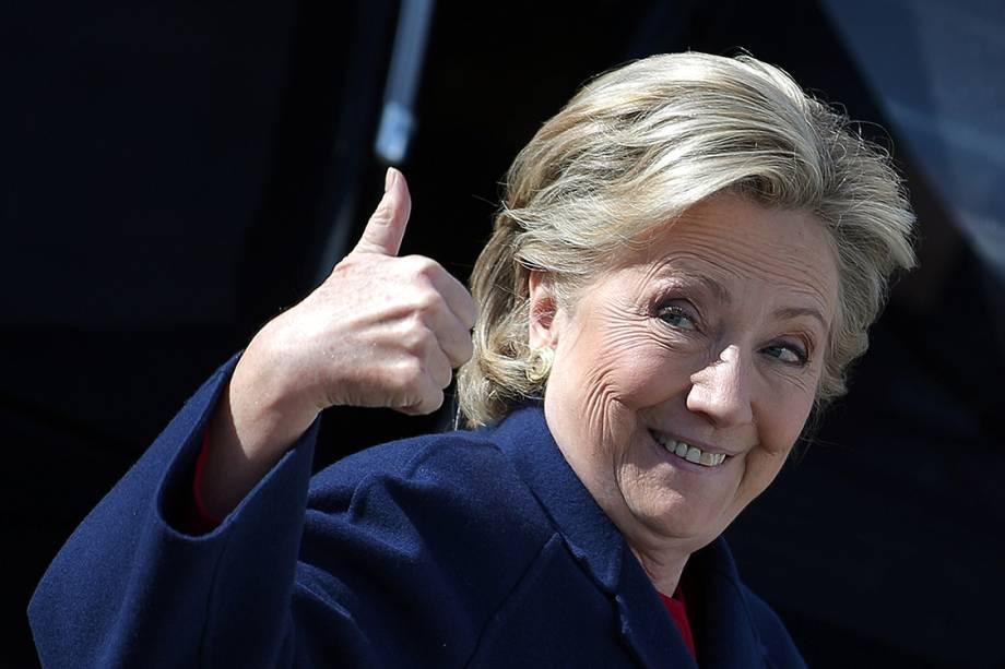 Candidata democrata à presidência dos Estados Unidos, Hillary Clinton