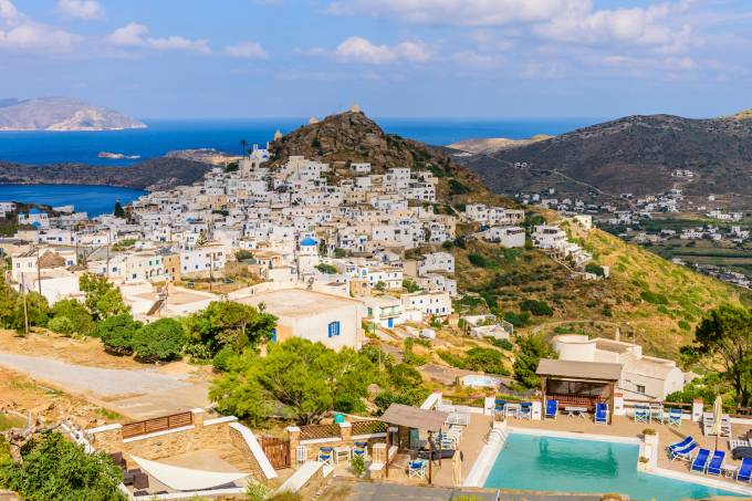 Ilha de Míconos, na Grécia
