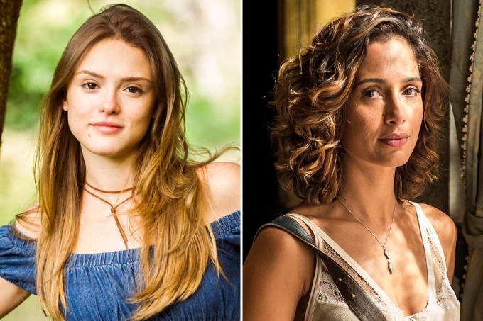 As atrizes Isabelle Drummond em 'A Lei do Amor' e Camila Pitanga em 'Velho Chico'