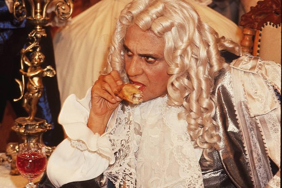 """Jorge Dória, ator, na novela """"Que Rei Sou Eu ?"""""""
