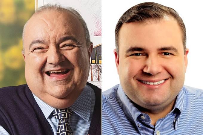 Os candidatos à prefeitura de Curitiba (PR): Rafael Greca (PMN) e Ney Leprevost (PSD)