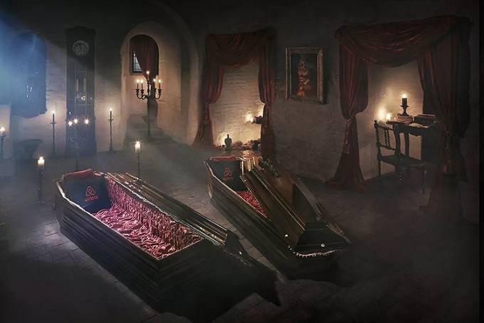 Castelo do Drácula na Transilvânia