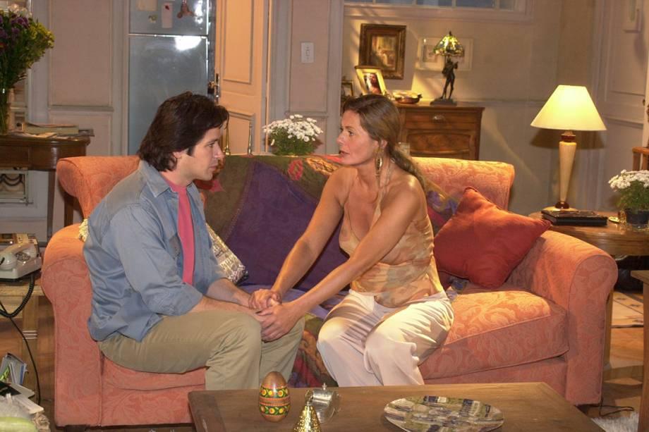 Murilo Benício e Vera Fischer na novela 'O Clone'