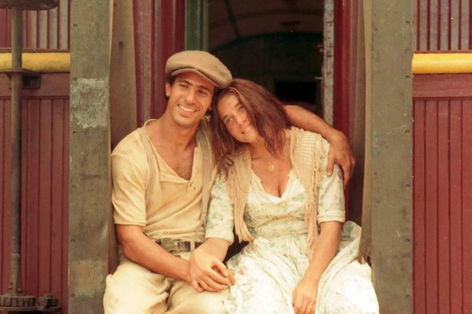 Letícia Spiller e Leonardo Brício na novela 'O Rei do Gado'