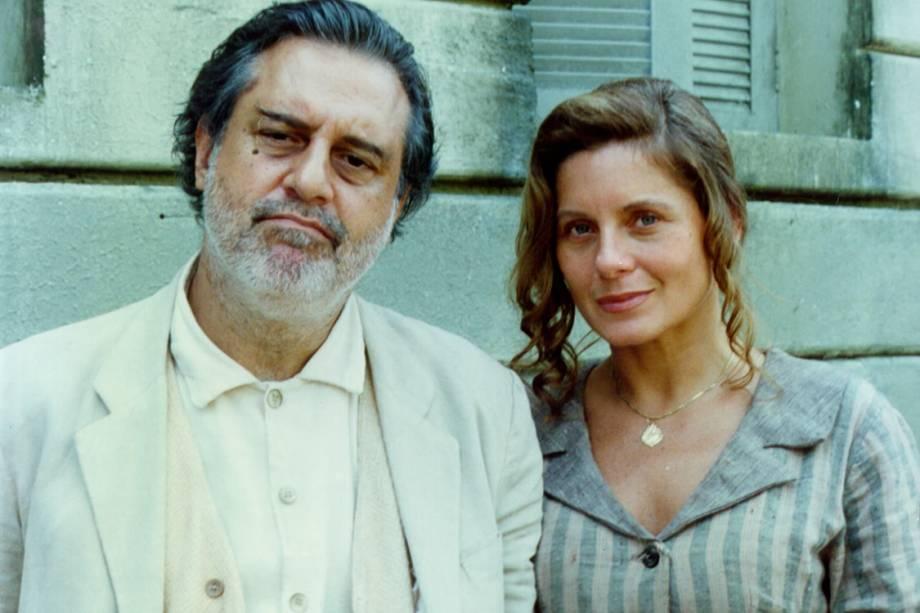Antônio Fagundes e Vera Fischer na novela 'O Rei do Gado'