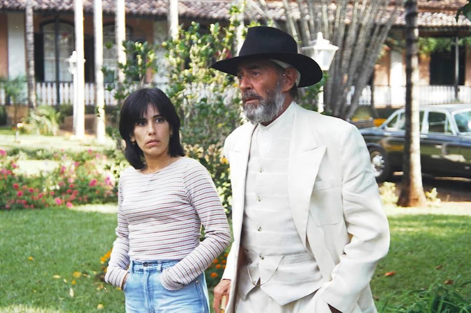 Glória Pires e Raul Cortez na novela 'O Rei do Gado'