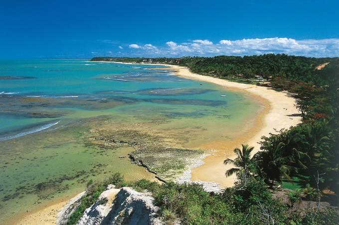 Praia do Espelho, entre Trancoso e Caraíva.