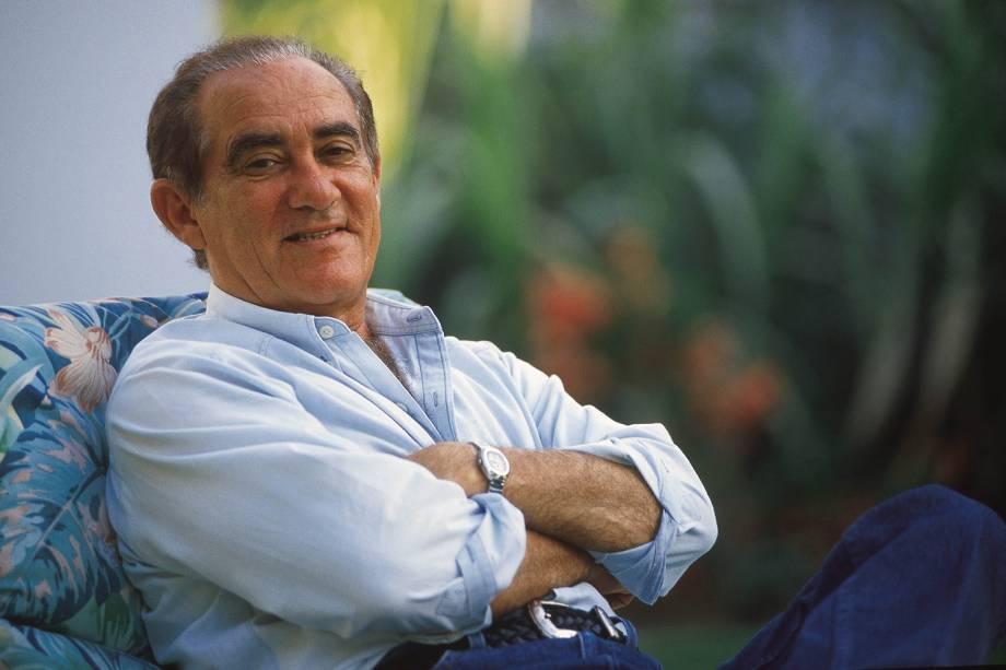 Renato Aragão em sua residência
