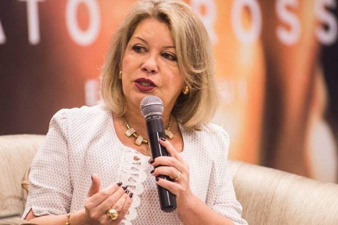 A juíza Selma Santos Arruda durante evento, em Mato Grosso