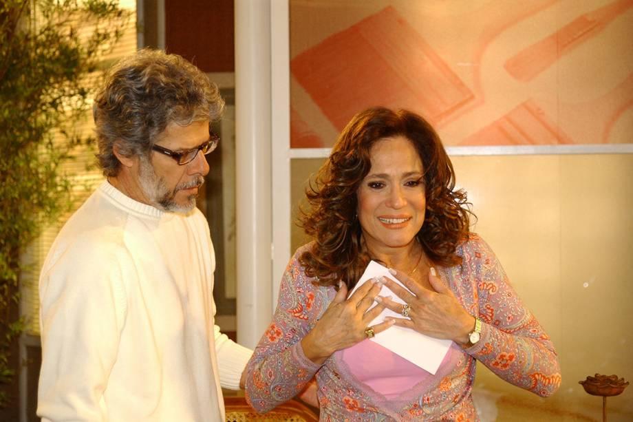 José Mayer e Susana Vieira na novela 'Senhora do Destino'