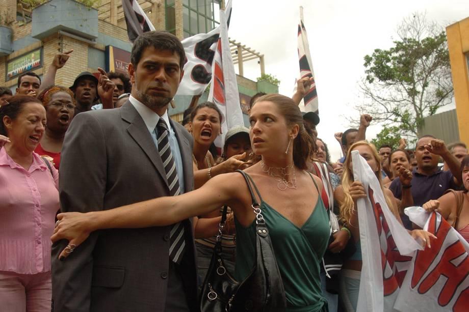 Eduardo Moscovis e Letícia Spiller na novela 'Senhora do Destino'