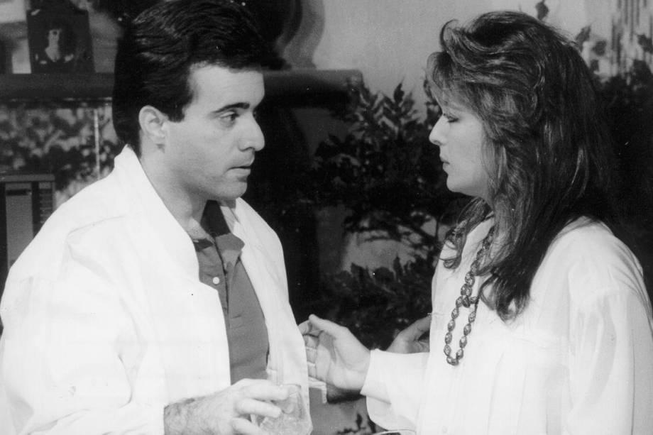"""Tony Ramos e Maria Zilda na novela """"Selva de Pedra"""""""