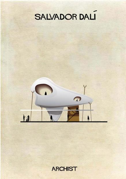 Uma casa surrealista de traços inspirados em Salvador Dalí