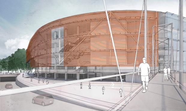 Fachada do futuro edifício