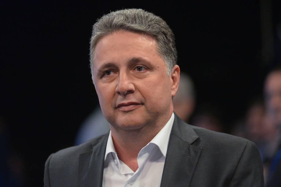 O candidato ao governo do Rio de Janeiro, Anthony Garotinho, durante debate promovido pela Rede Globo, em Jacarepaguá, Rio de Janeiro, em setembro de 2014