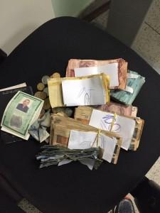Dinheiro apreendido com líder do MST em acampamento