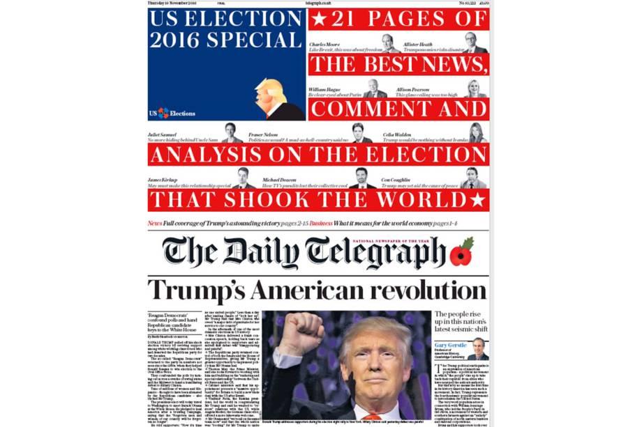 """The Daily Telegraph: """"Revolução americana de Trump"""""""