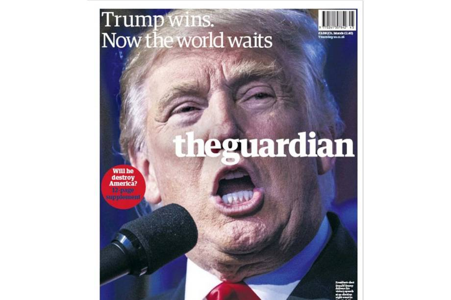 "The Guardian: ""Trump ganha. Agora o mundo espera"""