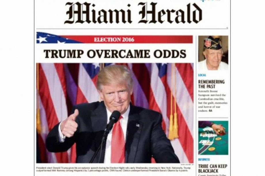"Miami Herald: ""Trump supera chances"""
