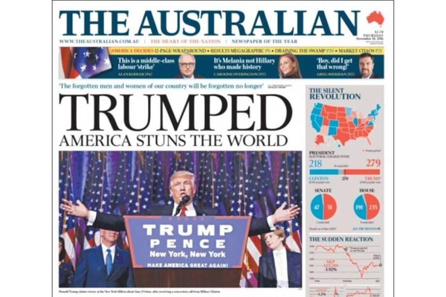 """The Australian: """"Trumpeado. América impressiona o mundo"""""""