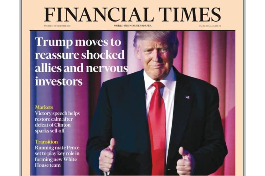 """Financial Times: """"Trump trabalha para tranquilizar aliados chocados e investidores aflitos"""""""
