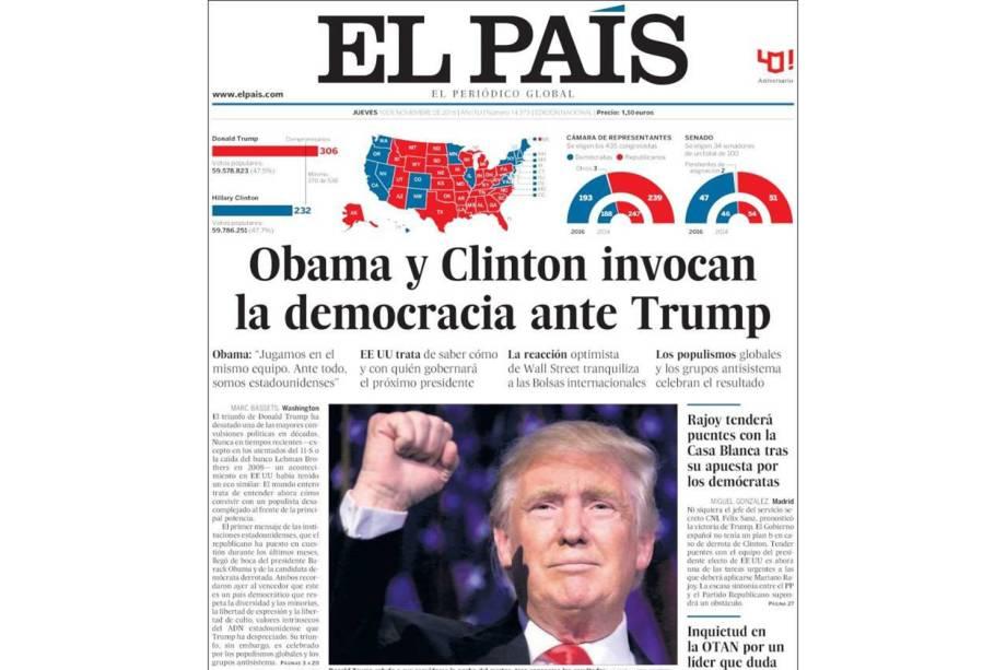 """El País: """"Obama e Clinton invocam a democracia diante de Trump"""""""