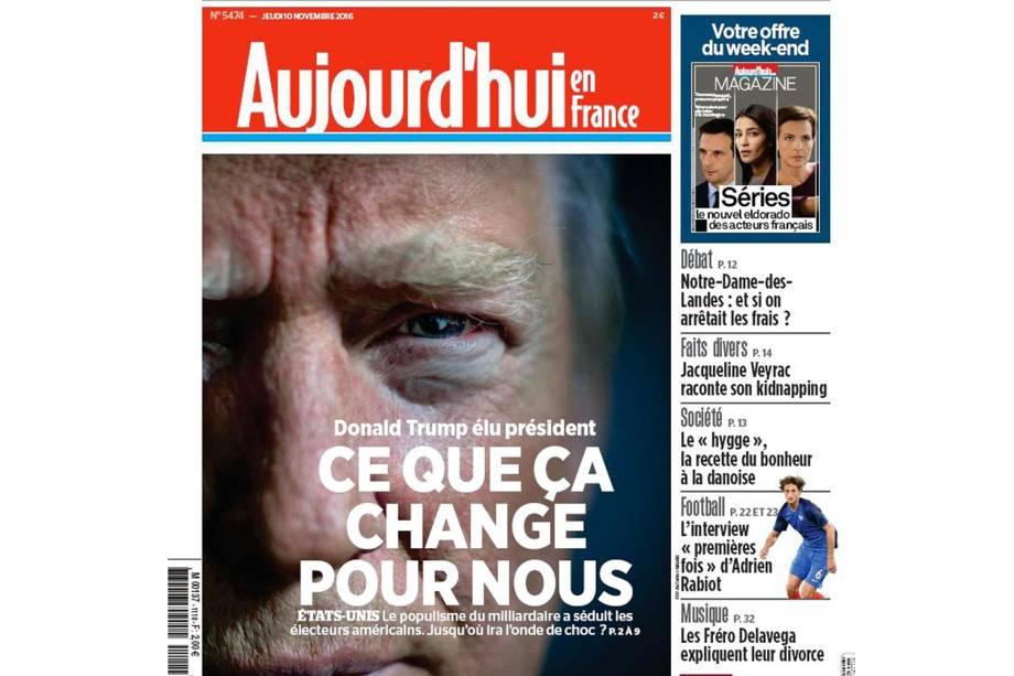 """Aujourd'hui en France: """"Donald Trump é o presidente que fará por nós"""""""