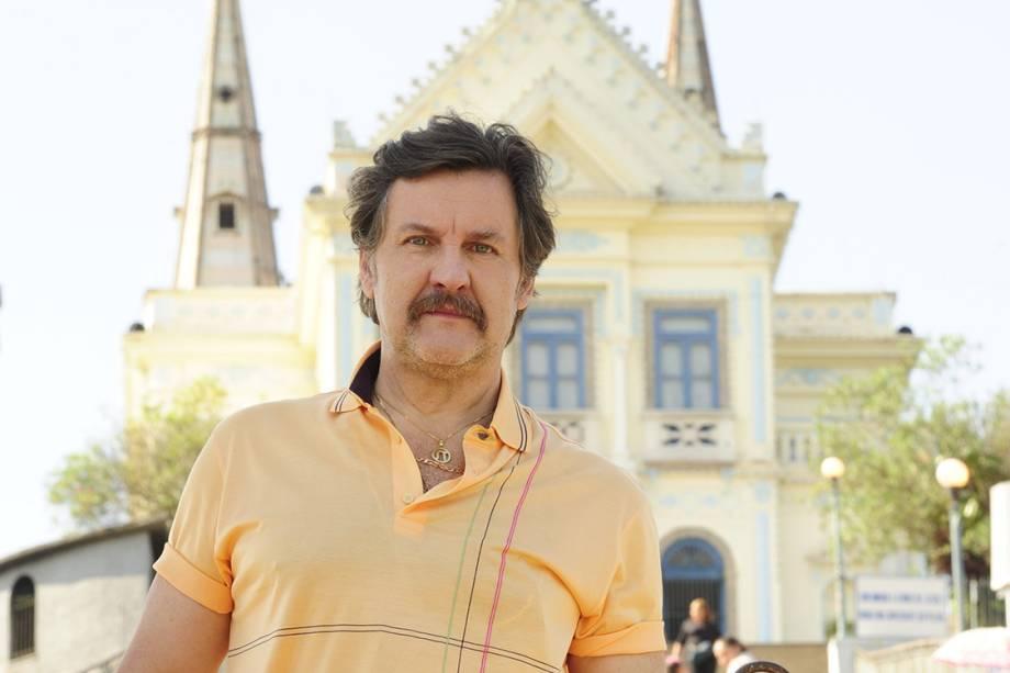 O ator Antonio Calloni na novela 'O Astro'