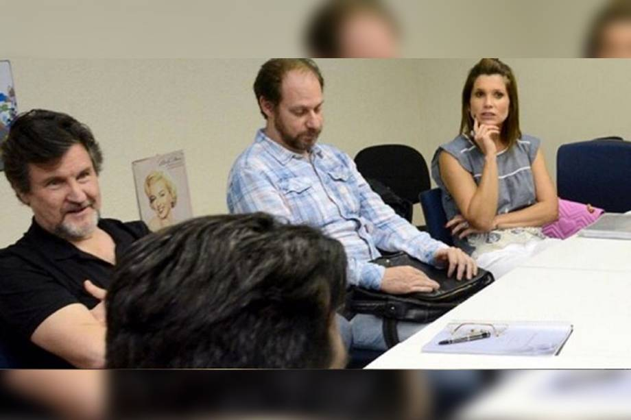 Antonio Calloni  e Flavia Alessandra conversam sobre produção de filme