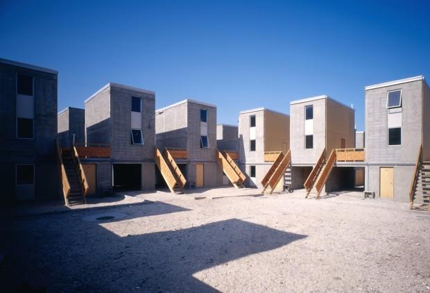 Conjunto habitacional Quinta Monroy, primeiro de uma série concebidos por Aravena