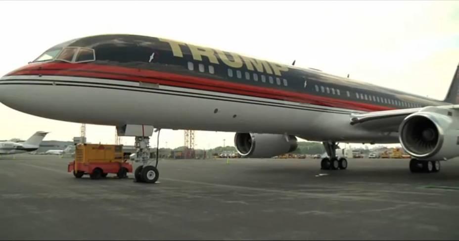 O avião de Donald Trump