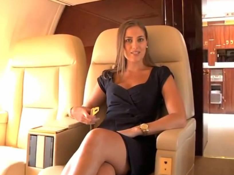 A própria empresade Donald Trump fez um vídeo para apresentar a aeronave - bem ao estilo narcisista do bilionário