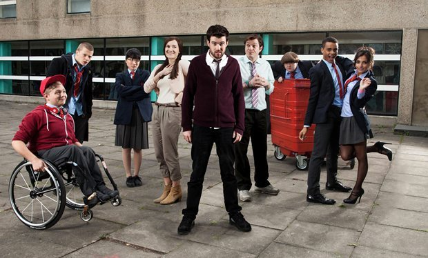 Elenco da série britânica 'Bad Education' (Foto: