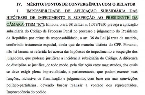 Barroso voto Cunha