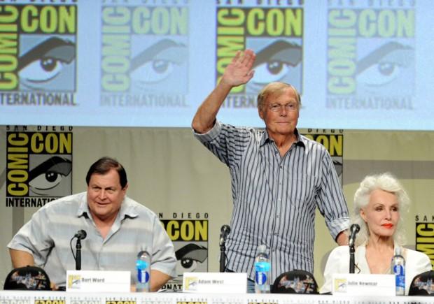 Ward, West e Newmar na Comic Con deste ano em San Diego (Fotos: Getty)