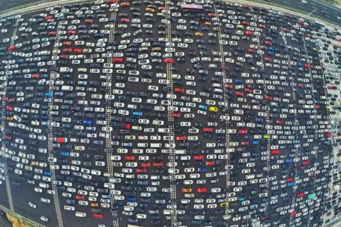 Massive Traffic Jam in China
