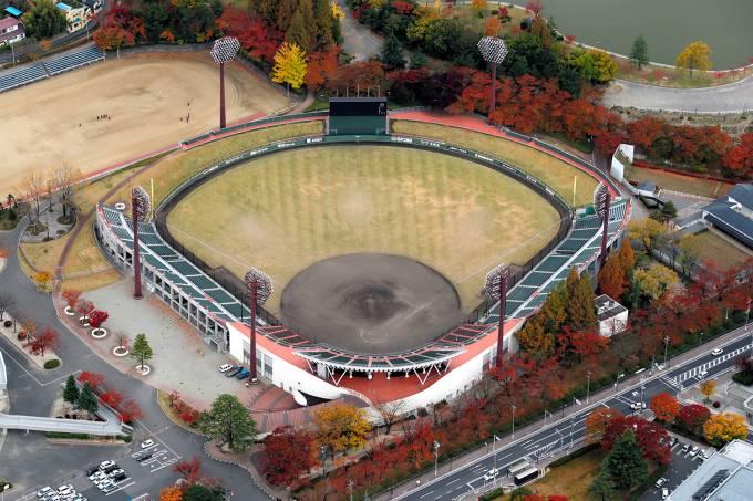Estádio de Fukushima receberá os jogos de beisebol nos Jogos Olímpicos de Tóquio, no Japão