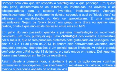 black blocs no meu post
