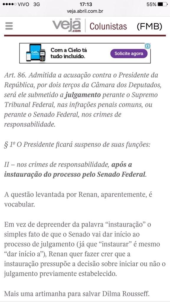 Blog sobre impeachment Senado