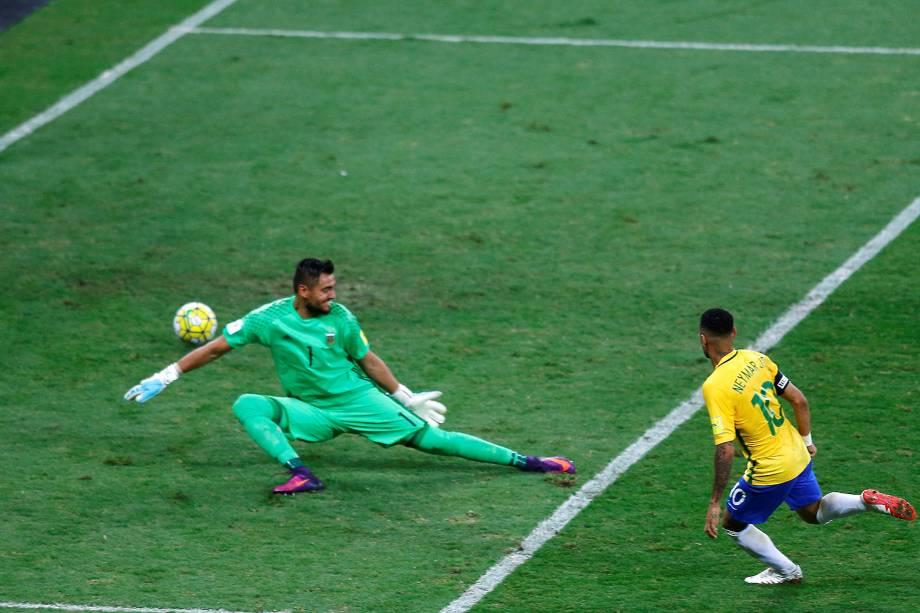 Neymar durante a partida contra a Argentina, válida pela 11ª rodada das eliminatórias Sul-Americanas da Copa de 2018, no estádio do Mineirão, na cidade de Belo Horizonte (MG) - 10/11/2016