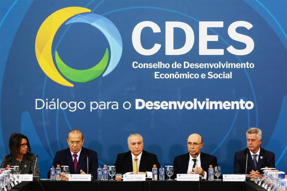 O presidente da República, Michel Temer, preside a reunião do CDES - Conselho de Desenvolvimento Econômico Social - 21/11/2016