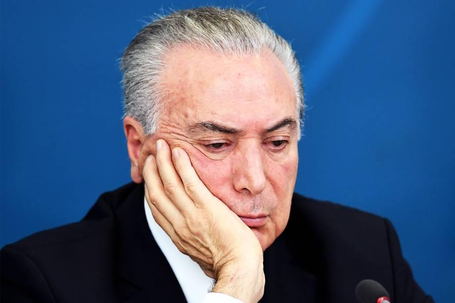 O presidente da República, Michel Temer, durante reunião do Reunião do CDES – Conselho de Desenvolvimento Econômico - no Palácio do Planalto, em Brasília (DF) - 21/11/2016