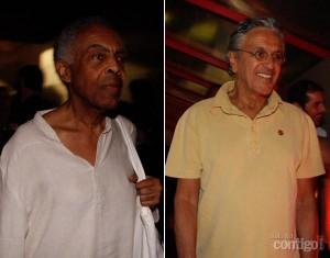 Caetano e Gil: ao lado de Feliciano e Maluf