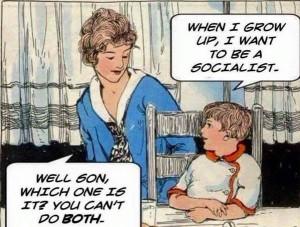 Charge criança socialismo