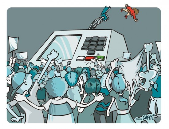 Charge Dilma fora