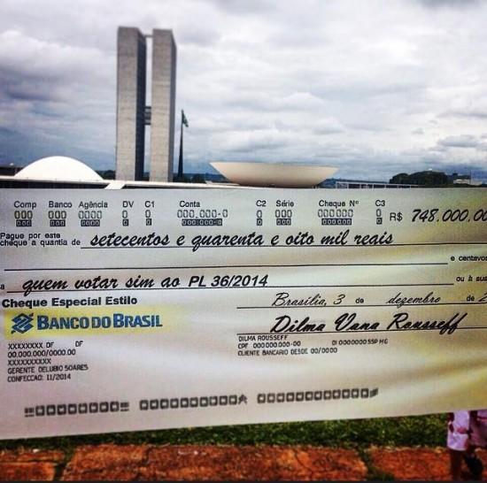 Cheque banner