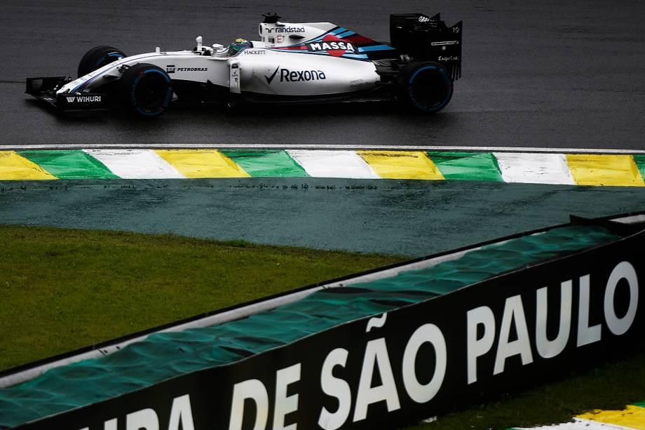 O piloto brasileiro Felipe Massa durante o Grande Prêmio do Brasil de Fórmula 1, realizado no Autódromo de Interlagos - 13/11/2016