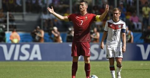 Cristiano Ronaldo nesta segunda, no jogo contra a Alemanha: onda de ressentimento